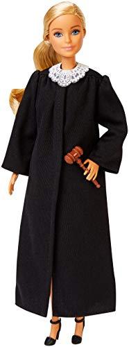 Barbie Quiero Ser Jueza, muñeca rubia con accesorios, juguetes +3 años (Mattel FXP42)