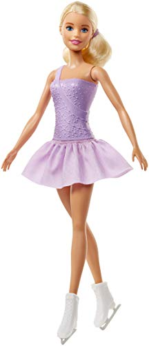 Barbie Figure Skater Doll Dressed in Purple Outfit
