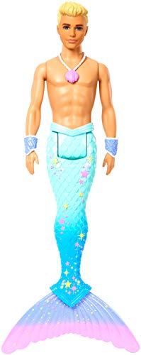 Barbie Dreamtopia Muñeco Ken Tritón, regalo para niñas y niños 3-9 años (Mattel FXT23) ,...