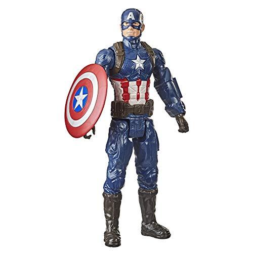 Marvel Avengers Titan Hero Series - Figura de acción de Capitán América de 30 cm, Edad: 4+