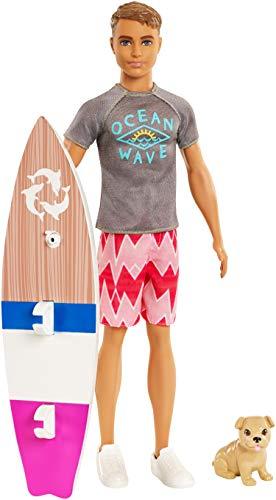 Barbie Aventura de los Delfines, muñeco ken surfero con accesorios (Mattel FBD71) , color/modelo...