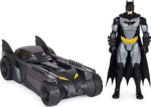 Batman 6058417 - Pack de batería y figurina de Batman de 30 cm de DC Comics – Vehículo Batmobile...
