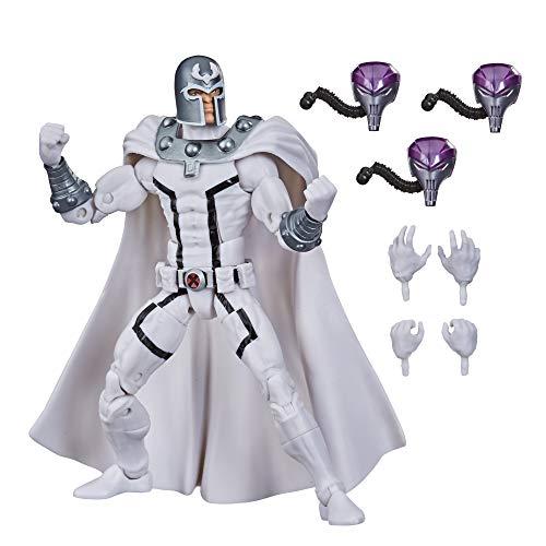 Marvel Figura de acción Coleccionable de Magneto de X-Men de 15cm de Hasbro Legends Series, con 4...