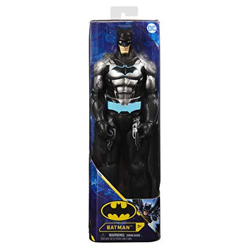 DC Comics Bat-Tech - Figura de acción Bat-Tech de Bat-Tech (Traje Negro/Azul), para niños a Partir...