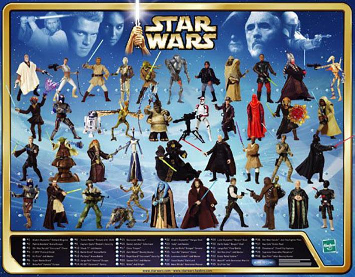 """Muñecos de Star Wars """"Saga"""""""