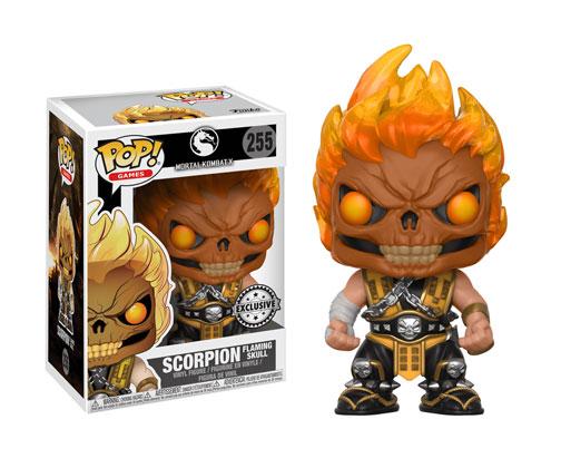 Muñeco de Mortal Kombat Funko Pop Scorpion Flaming Skull