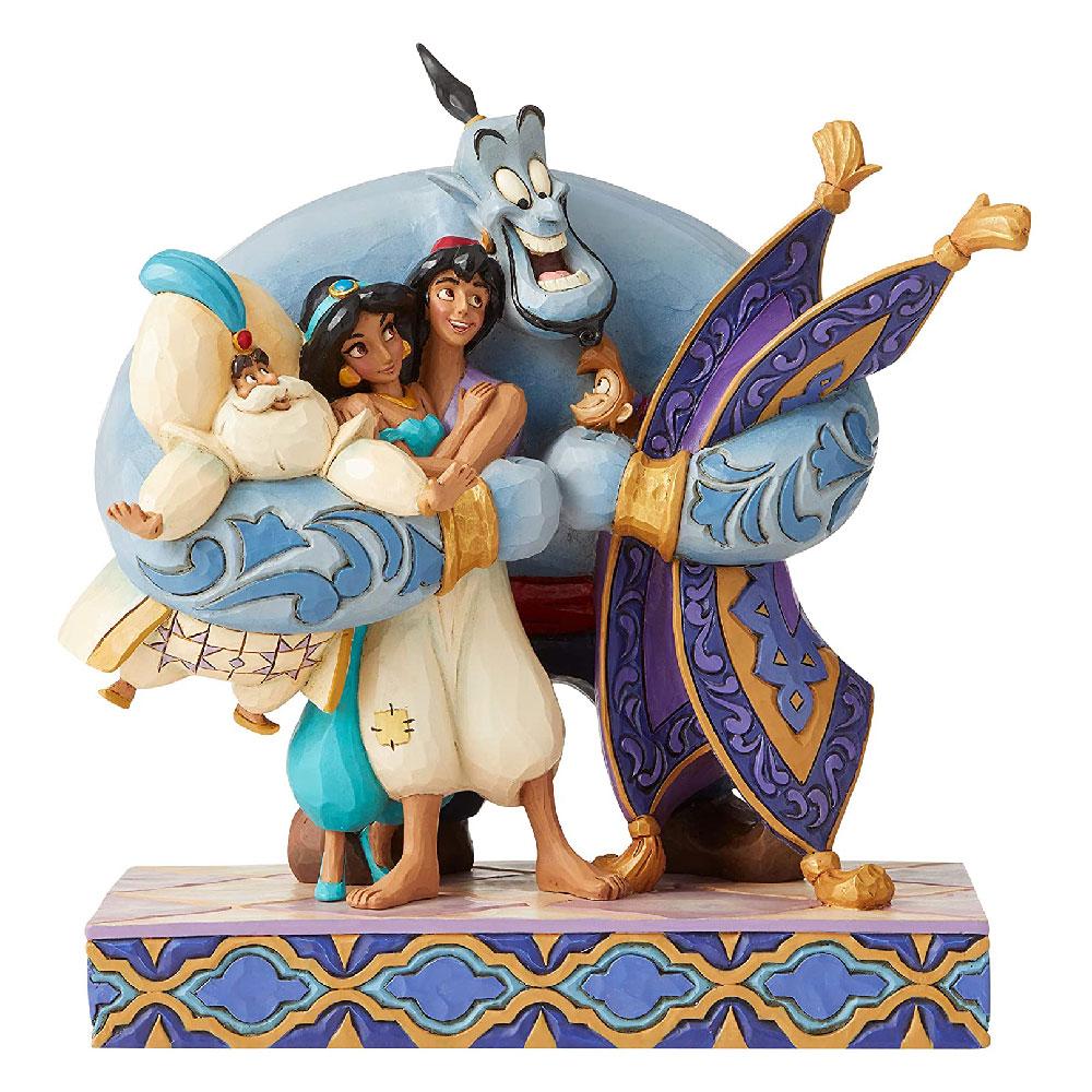"""Figuras de Aladdin """"Abrazo de Grupo"""" Disney Traditions"""