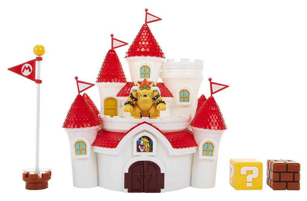 Castillo del Reino Champiñón con muñeco de Koopa Super Mario Jakks
