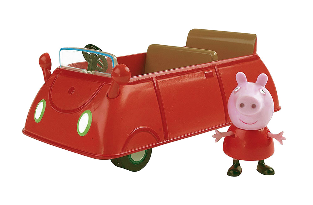 Coche de Peppa Pig con muñeco