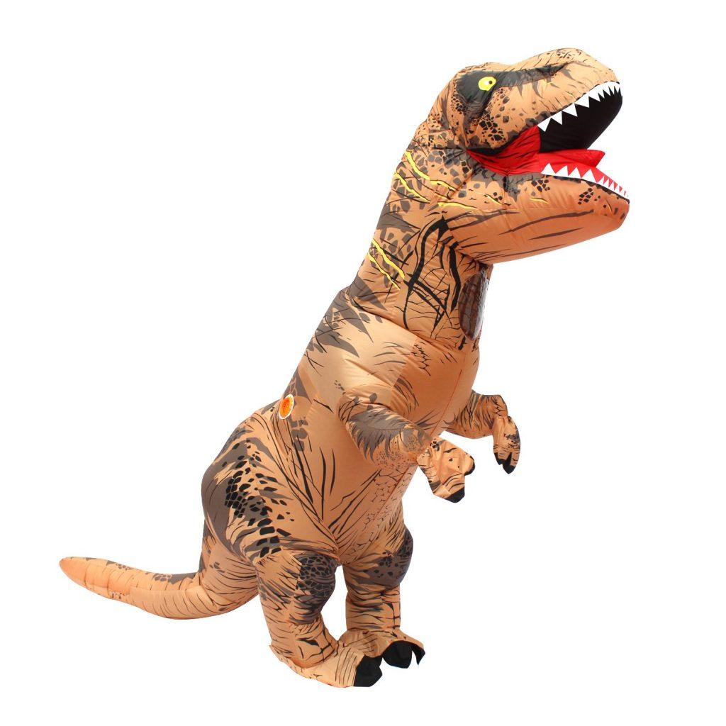 Disfraz inflable de dinosaurio T Rex