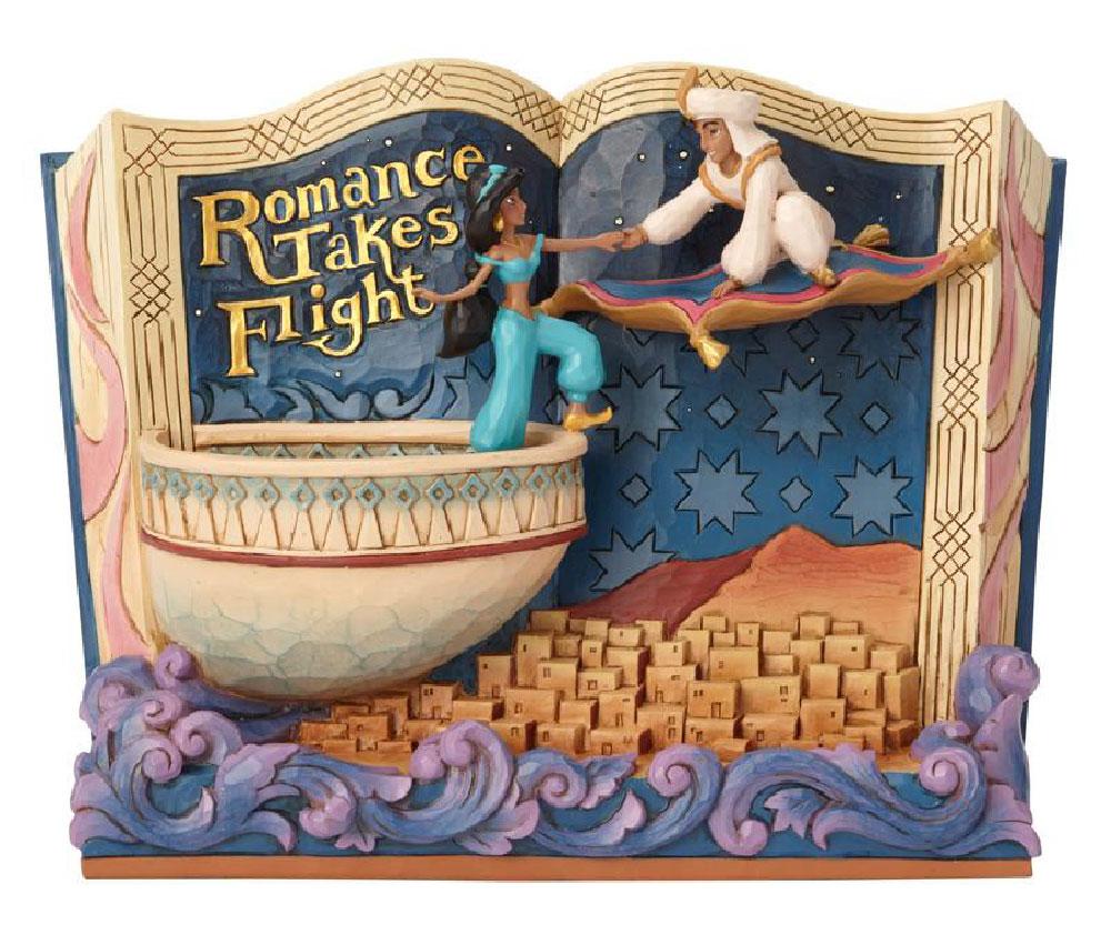 Figura de Aladdin y la Princesa Jasmín Disney Traditions