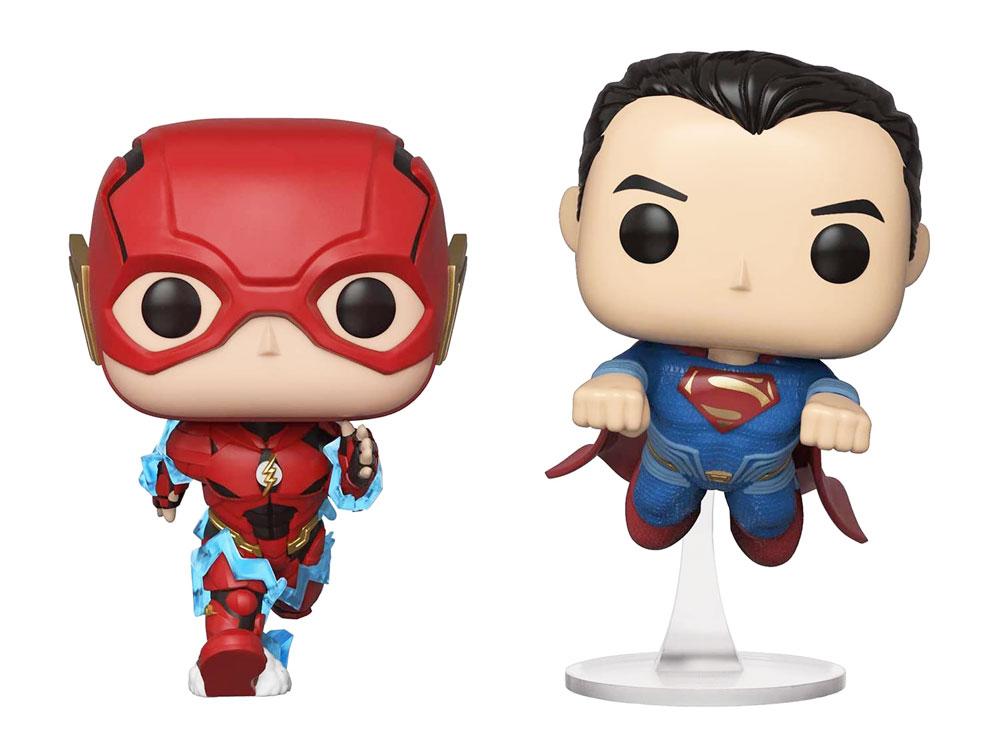 Figuras de Flash y Superman Funko Pop