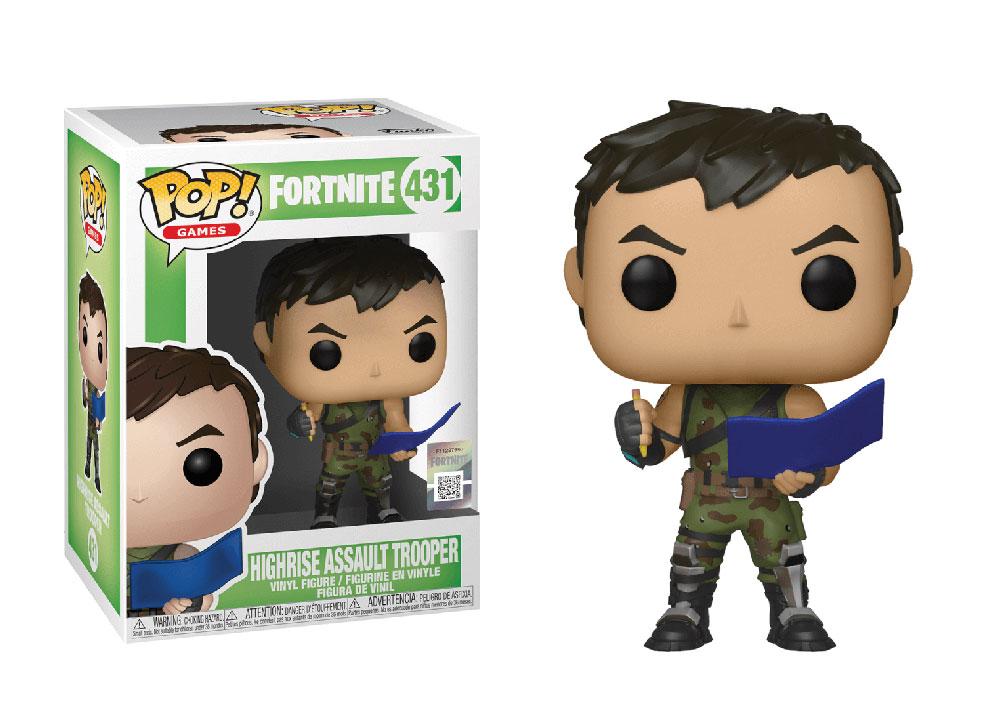 Figura de Highrise Assault Trooper Fortnite Funko Pop