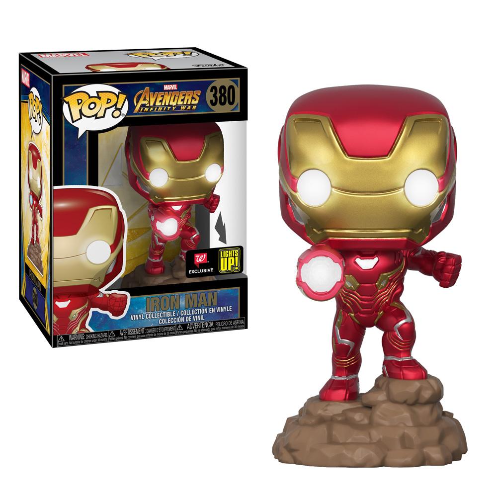 Figura Iron Man Funko Pop Lights Up