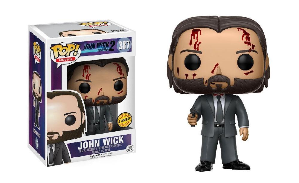 Figura de John Wick de Funko Pop 387 Bloody