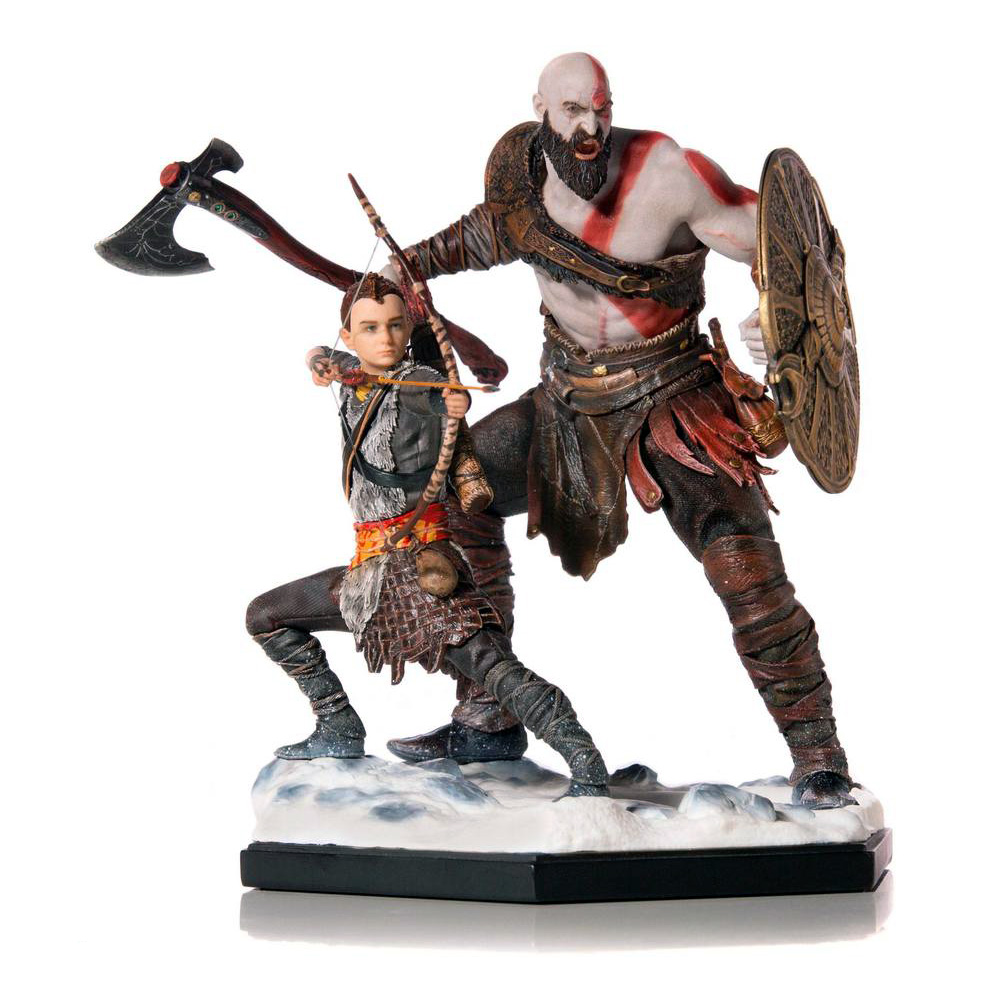 Figura Atreus y Kratos God of War por Iron Studios