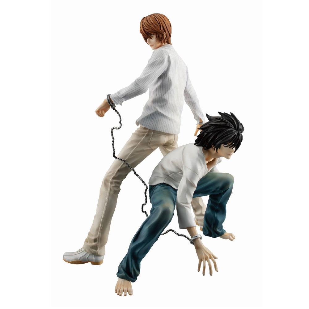Figuras de Light Yagami y L de Death Note Megahouse