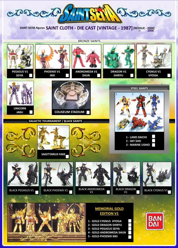 Figuras de Saint Seiya vintage 1