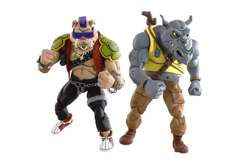Figuras de Bebop y Rocksteady (Rocoso) - Tortugas Ninja