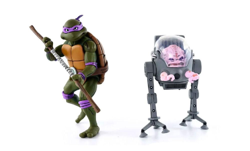 Figuras de Donatello y Krang - Tortugas Ninja