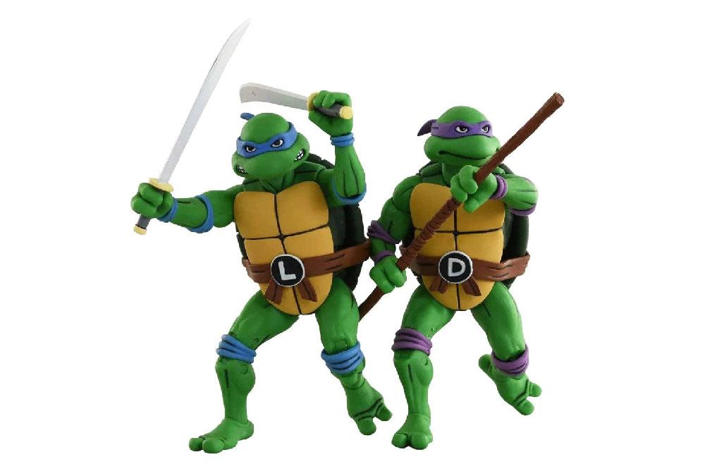 Figuras de Leonardo y Donatello - Tortugas Ninja