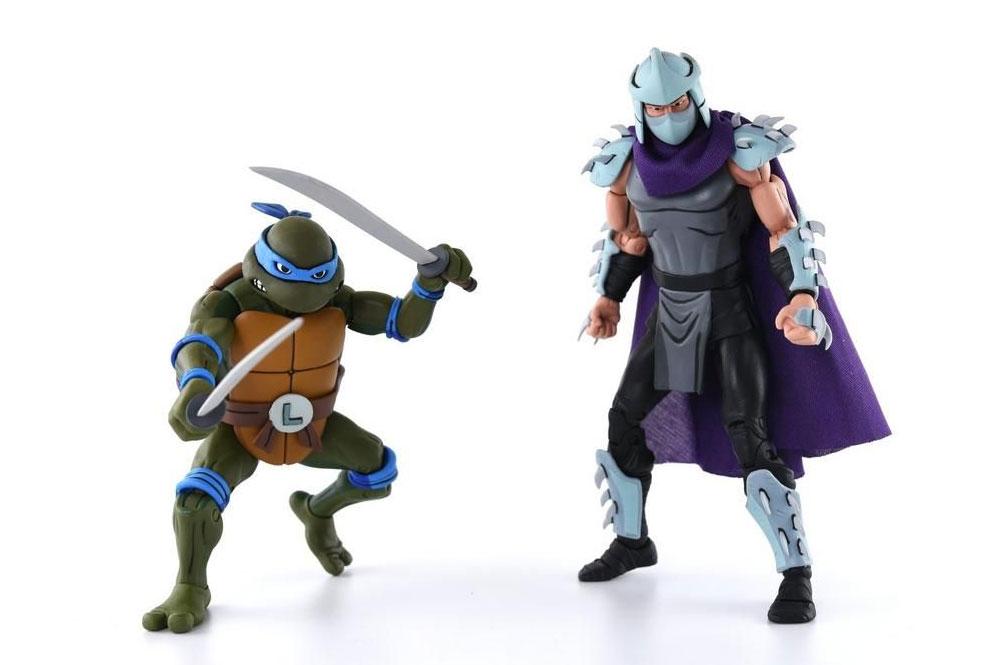 Figuras de Leonardo y Shredder (Destructor) - Tortugas Ninja