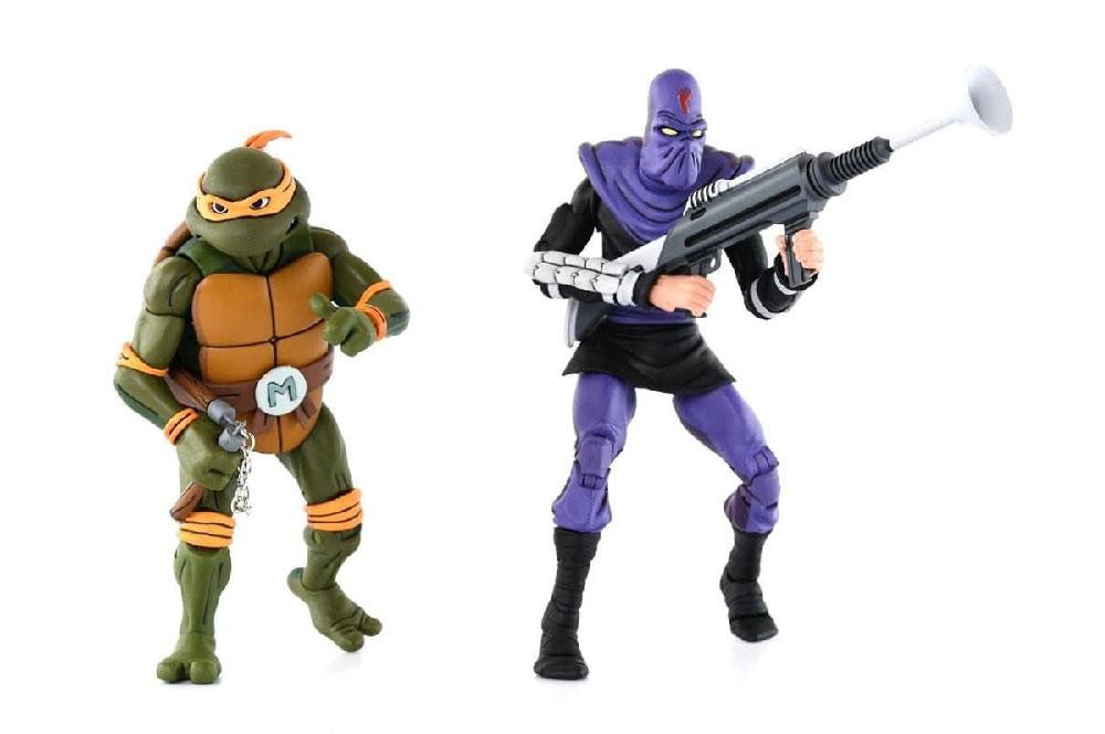 Figuras de Michelangelo y Foot Soldier - Tortugas Ninja