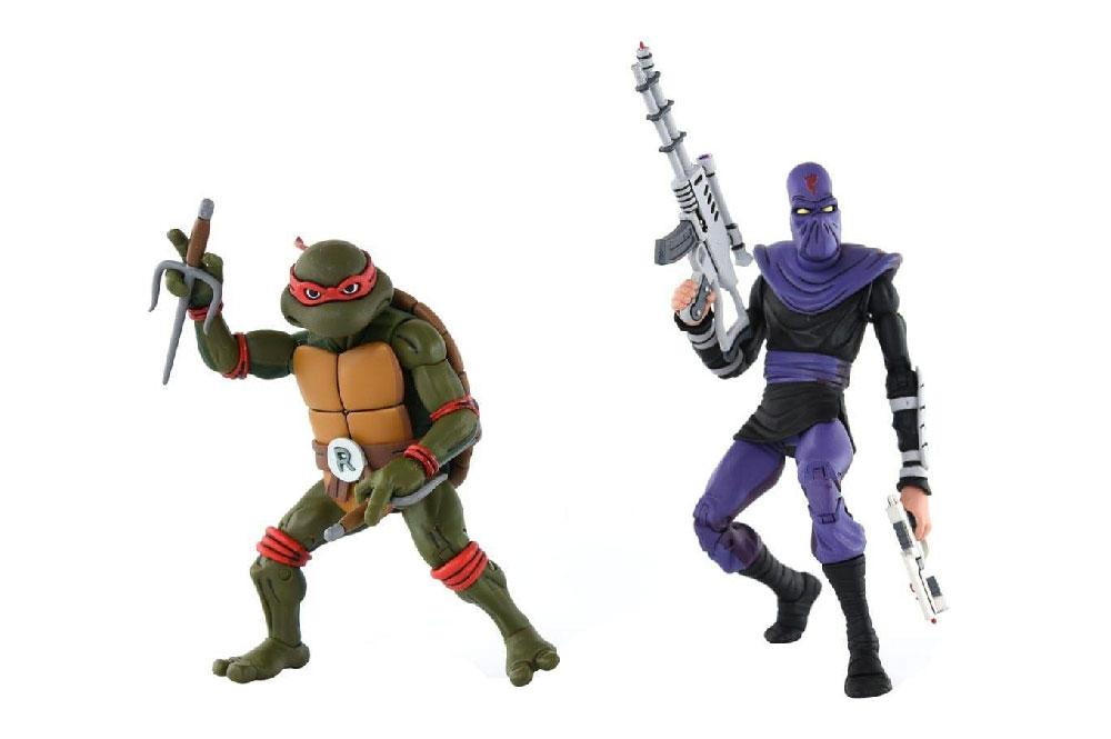 Figuras de Raphael y Foot Soldier - Tortugas Ninja