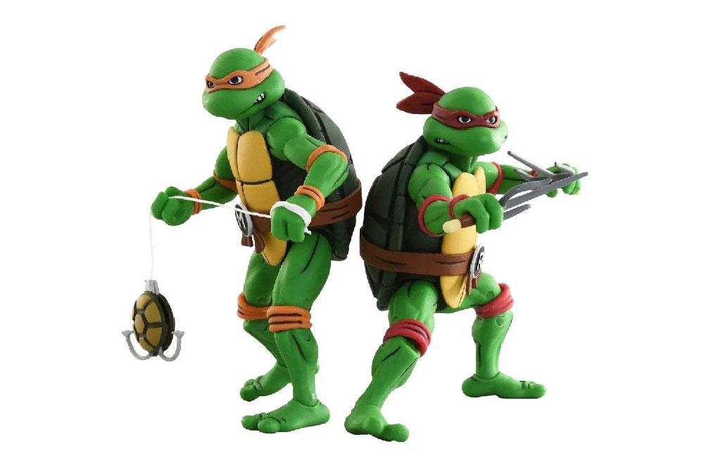 Figuras de Michelangelo y Raphael - Tortugas Ninja