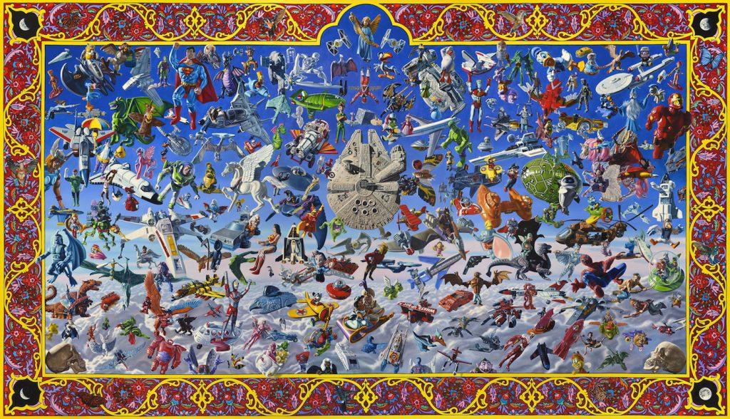 Muñecos voladores, por Robert Burden