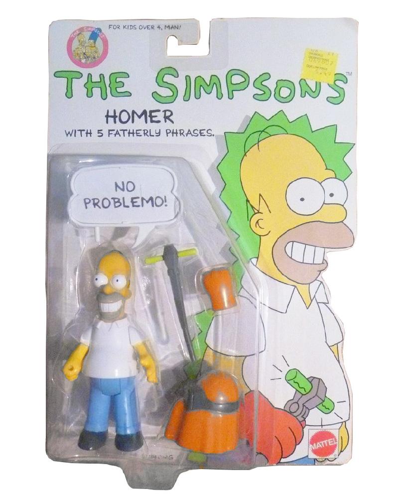 Muñeco de Homero Simpson - Los Simpson Mattel 1990