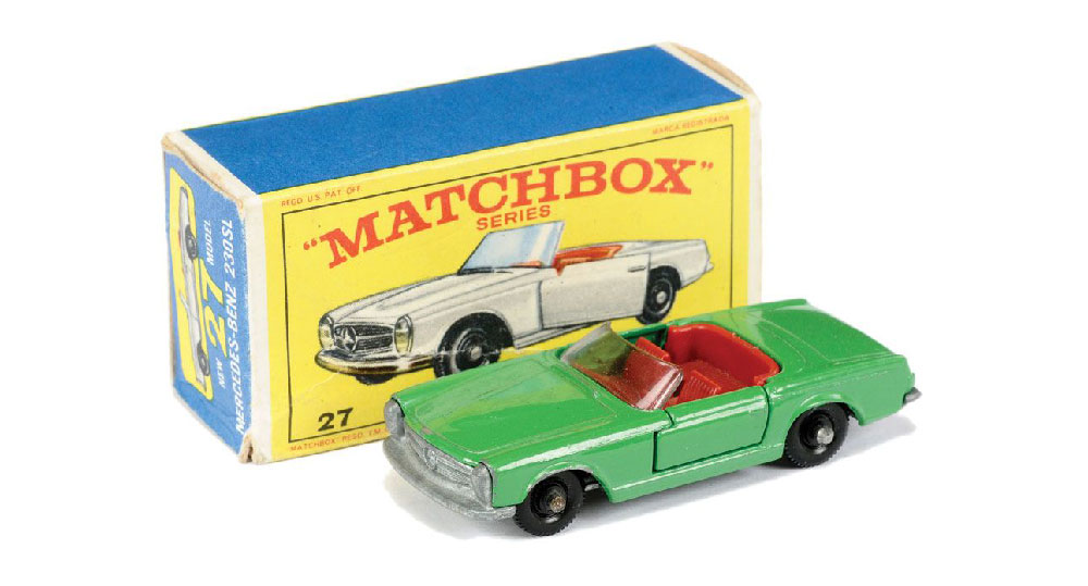 Matchbox Mercedes 230SL 27d verde
