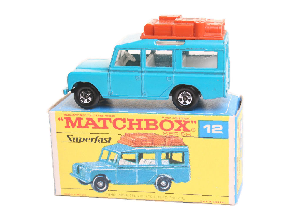 Matchbox Safari Land Rover 12c azul