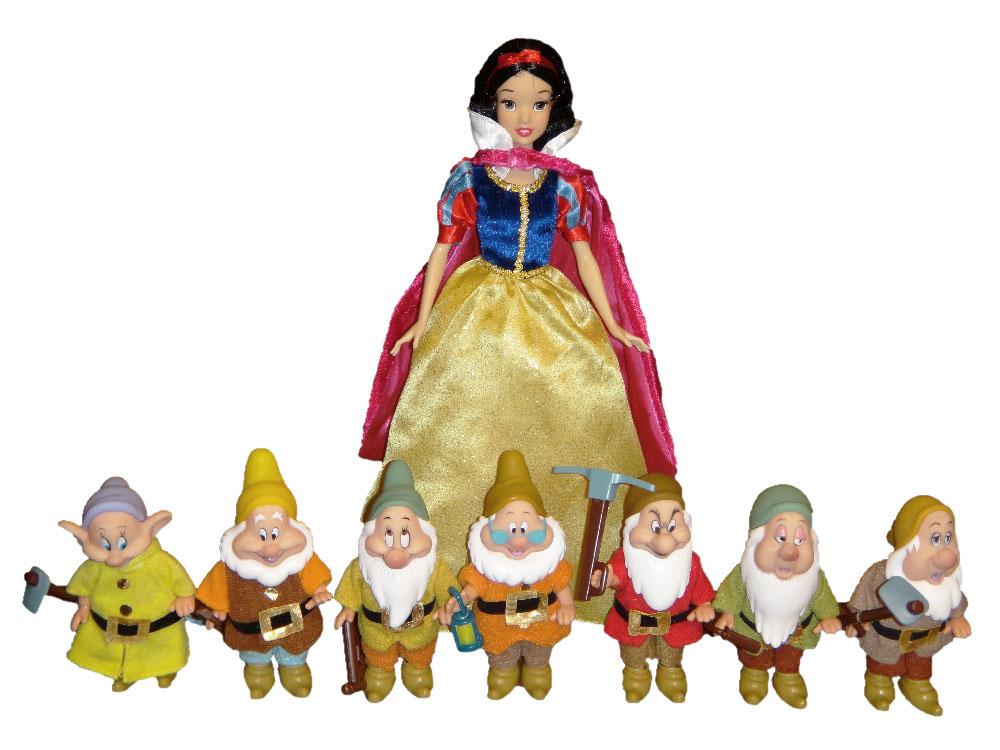 Muñeca de Blancanieves con los Siete Enanitos de Simba Toys