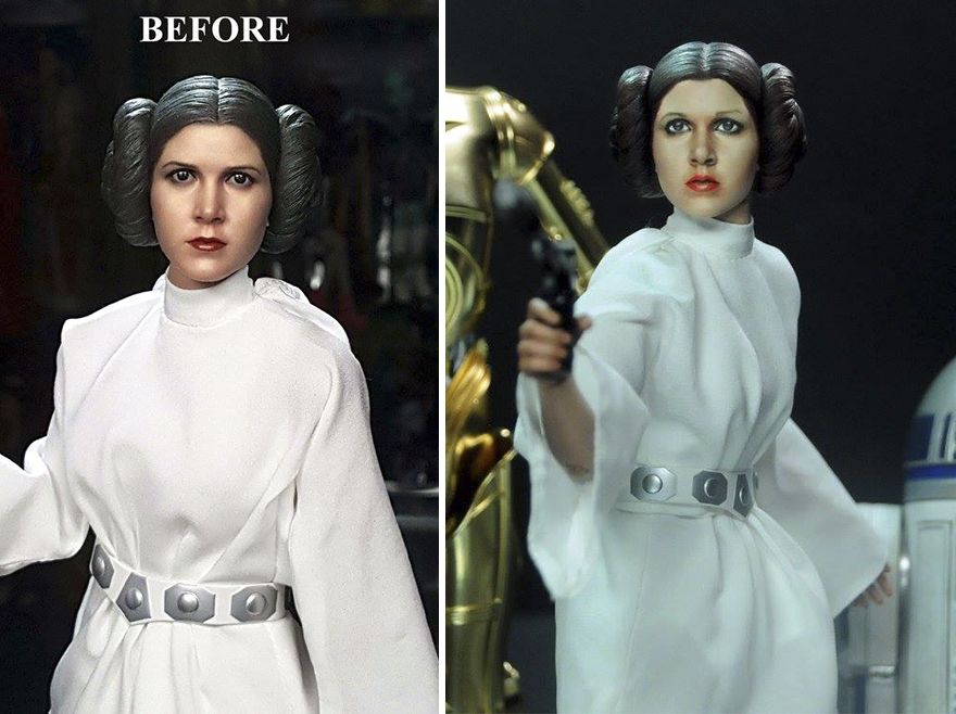 Muñeca de la Princesa Leia Carrie Fisher Star Wars