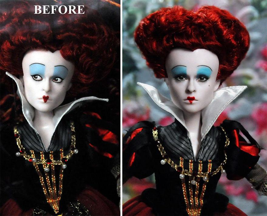 Muñeca de la Reina de Corazones Alicia en el País de las Maravillas Helena Bonham Carter