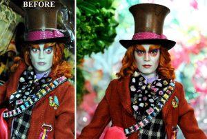 Muñeca del Sombrerero Loco Alicia en el País de las Maravillas Johnny Depp