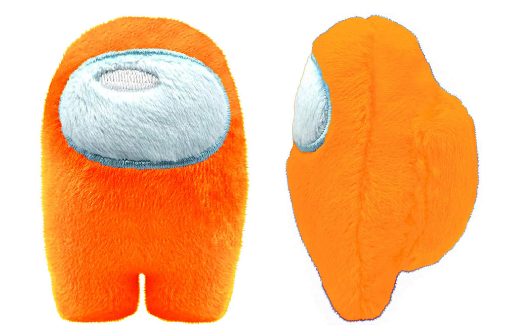 Muñeco de Among Us naranja