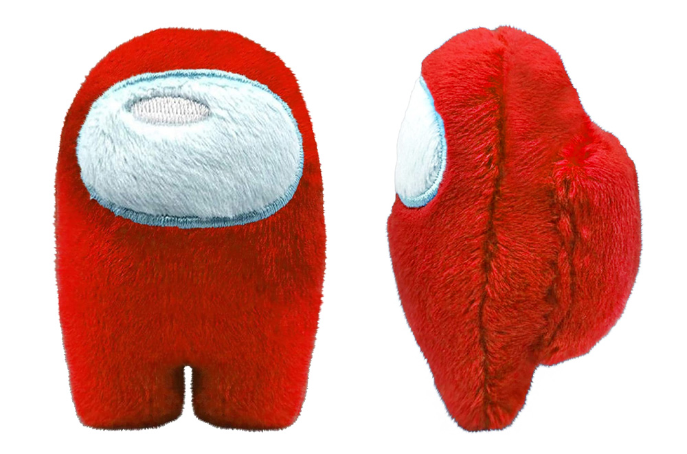 Muñeco de Among Us rojo