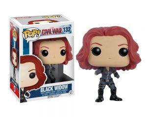 Muñeco de Black Widow Viuda Negra Civil War Funko Pop