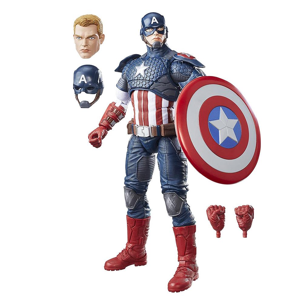 Muñeco del Capitán América Marvel Legends 12 pulgadas