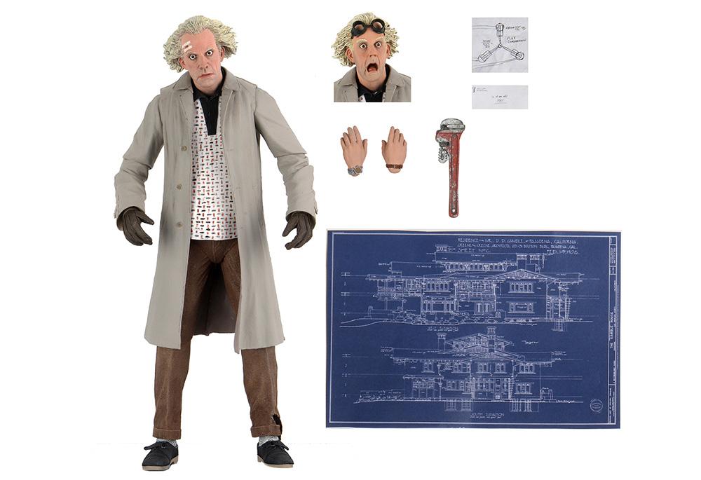 Muñeco de Doc Brown Volver al Futuro NECA