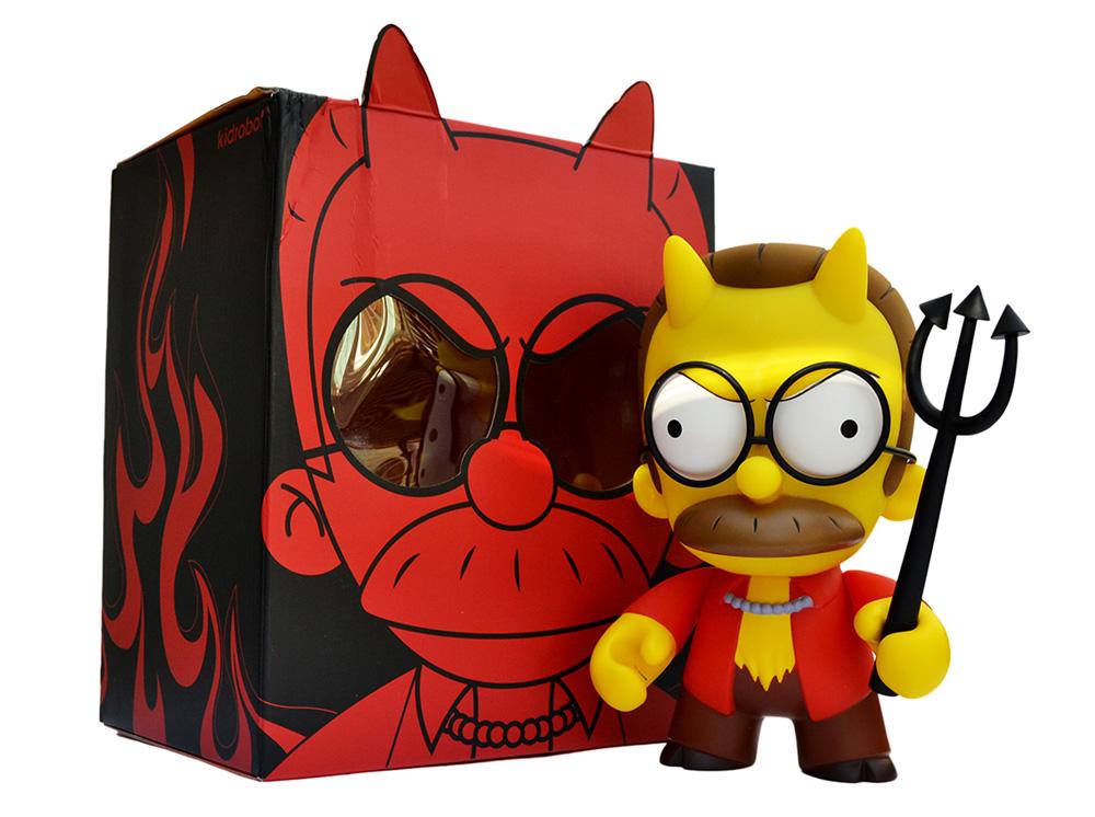 Muñeco de Ned Flanders Diablo Los Simpsons Kidrobot