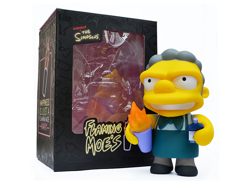 Muñeco de Llamarada Moe Los Simpsons Kidrobot