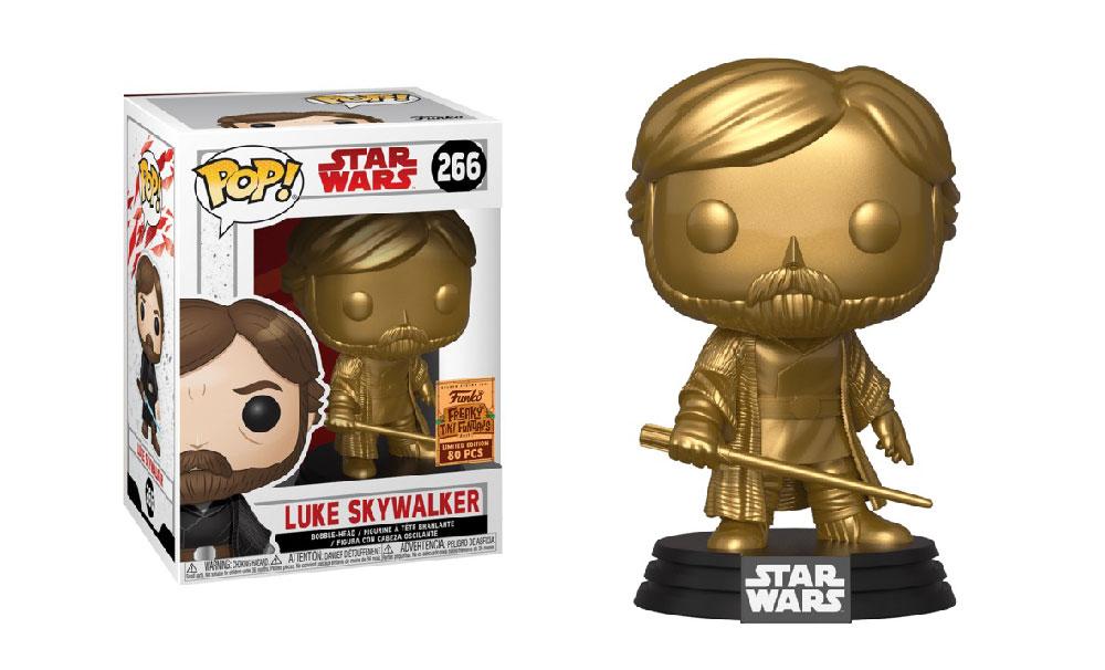 Muñeco Luke Skywalker Final Battle Gold de Funko Pop