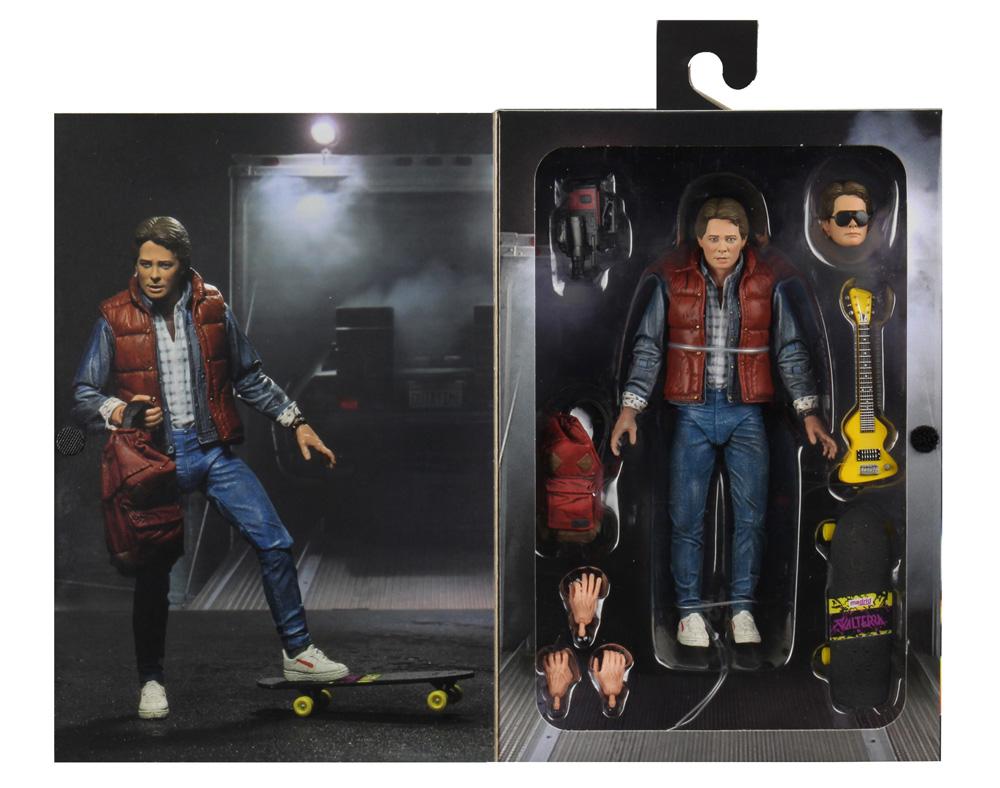 Muñeco de Marty McFly Volver al Futuro NECA en caja