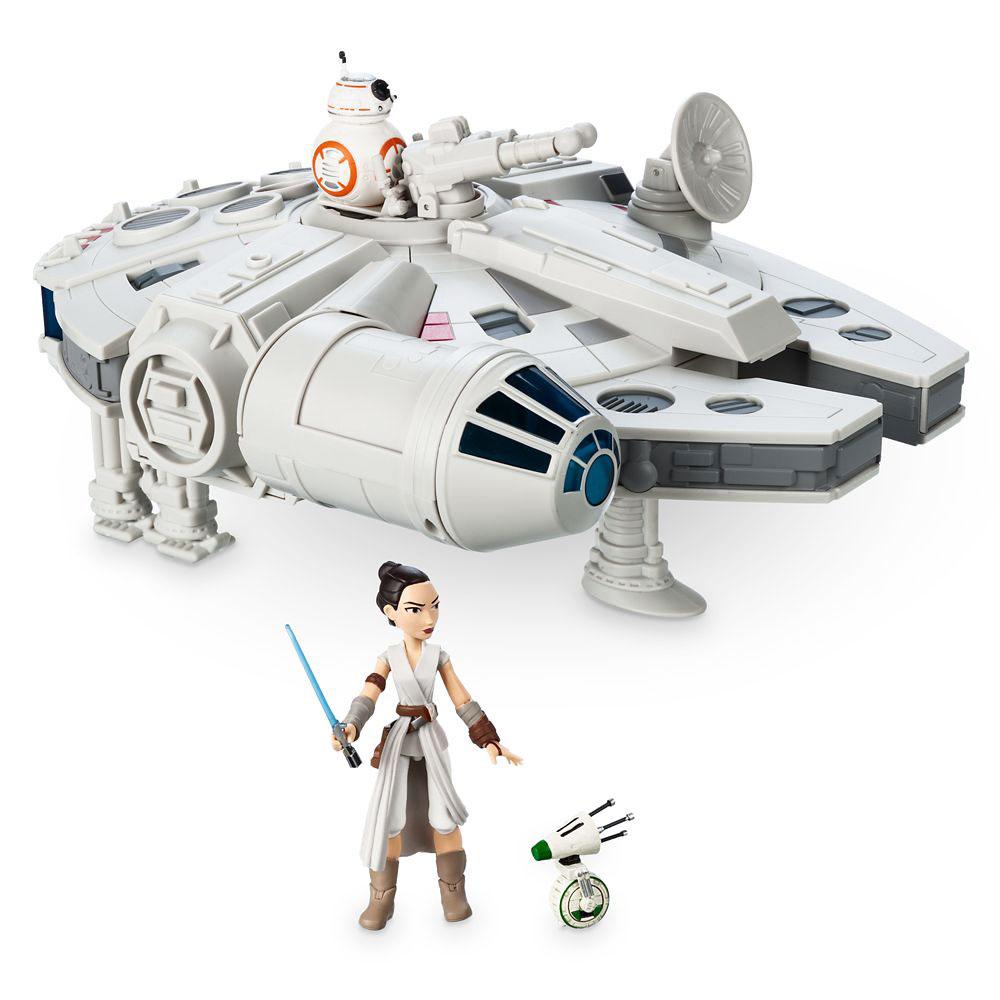 Millennium Falcon con Rey y BB-8 Star Wars Toybox