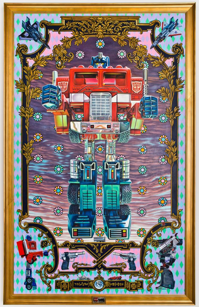 Muñeco de Optimus Prime, Transformers, por Robert Burden