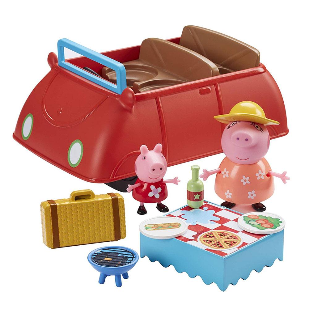Coche de Peppa Pig con muñecos