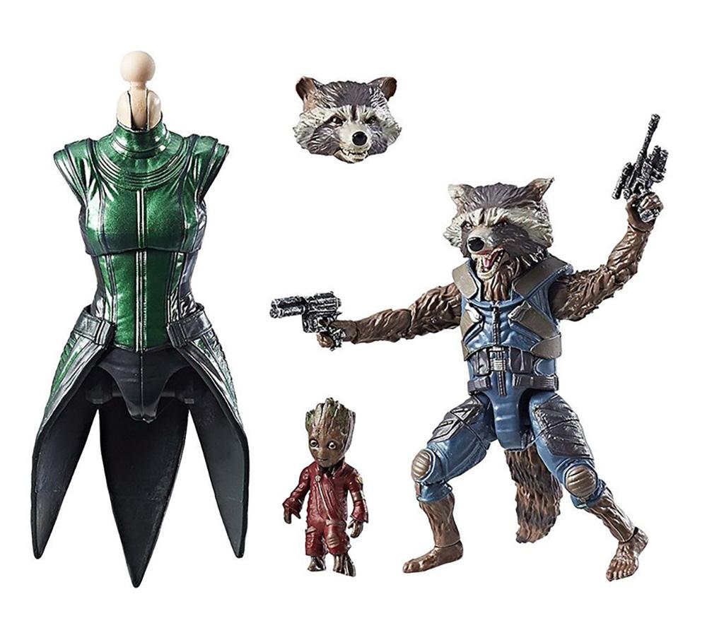 Muñecos de Rocket y Groot Marvel Legends